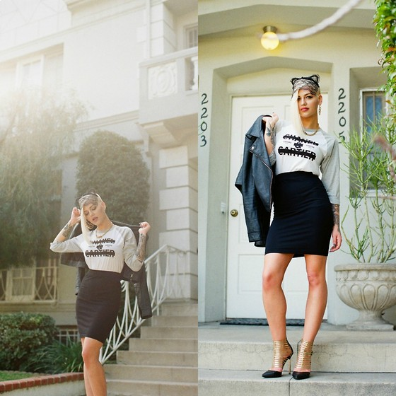 Samii Ryan - Crooks N Castles Shirt, Forever 21 Skirt, Priviledged Shoes, Aeropostale Jacket, By Samii Ryan Jewelry - Like A Virgin