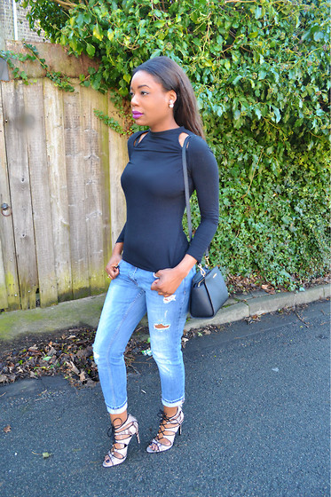 Laura C - Michael Kors Bag, Zara Shoes, River Island Top, River Island Jeans - New shoes // StylishVue