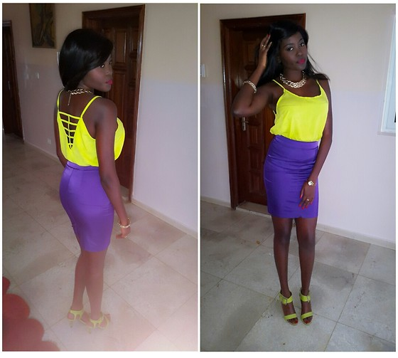 Senegalese Blogger - H&M Purple Skirt, H&M Purple Skirt - A colorful Evening