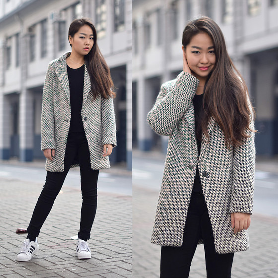Meijia S - Sheinside Coat, Uniqlo Jeans, Adidas Sneakers - Holiday starts