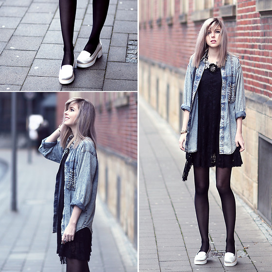 Jana Wind - Eigt Birdies Jeansshirt, Indiska Dress, Asos Shoes - Acid love