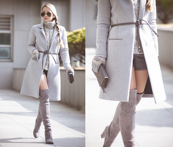 Olga Choi - Choies Over Knee Boots - Monochrome