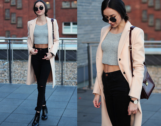Bea G - Coat, Crop Top, Jeans, Boots, Bag, Watch - Matilda