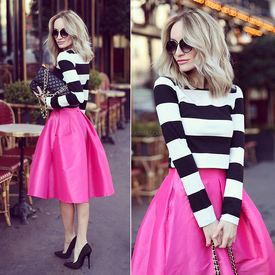 Silvia P. - Elitefashion99 Top, Elitefashion99 Skirt, Zara Stilettos, Zerouv Sunnies, Chanel Purse - Le Parisien