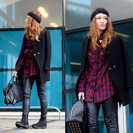 Agata P - Choies Plaid Shirt, Oasap Pants, Primark Boots - Life Has A Funny Way Of Sneaking Up On You