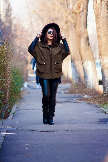 Kristina P. - Zara Parka - Oversized and relaxed!