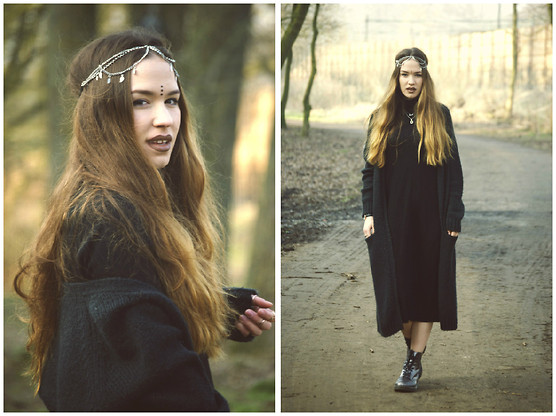Braidsandeyeliner - Monki Cardigan, Dr. Martens Dr, Cos Dress, Pimkie Head Band - Gothic Fairy Mermaid
