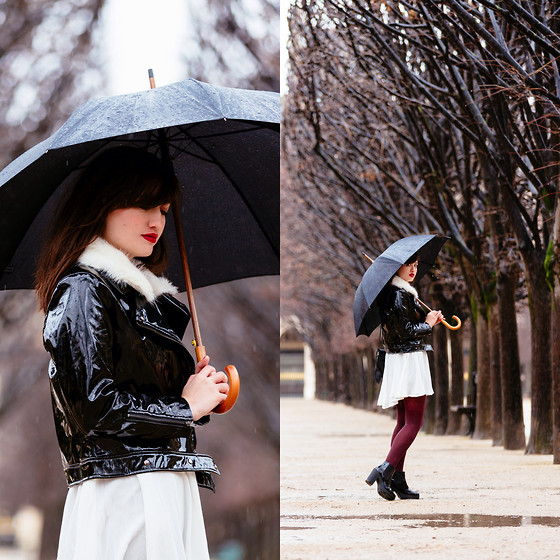 Nikita Wong - Style Moi Shiny Jacket, Style Moi Shirt Dress - Paris under the rain