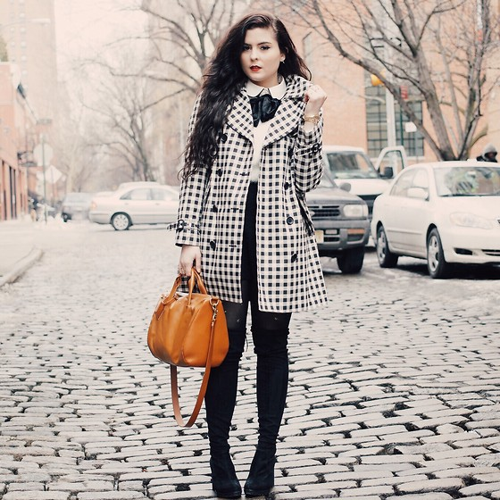 Noelle Downing - Coach Trench Coat - Gingham Trench