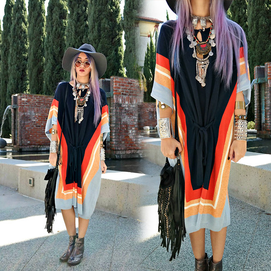 Sera Brand - Rosel Silk Terry Poncho Dress - Believe in Yourself!