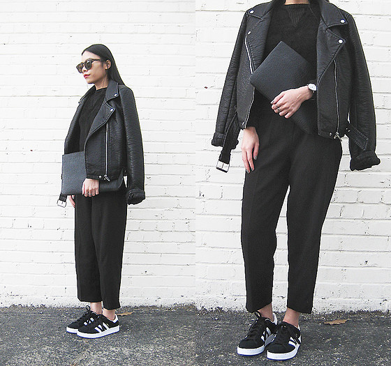 black adidas campus womens