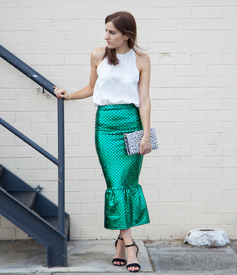 Emily S - Jessica Reeves Skirt, Saint Laurent Bag - Mermaid Me