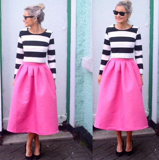 Martina Reynolds - Sheinside Two Piece - I've never met a stripe I didnt like