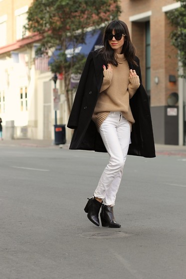Lucia Mouet - Zara Coat, Madewell Jeans, Dolce Vita Boots - Back to Basics