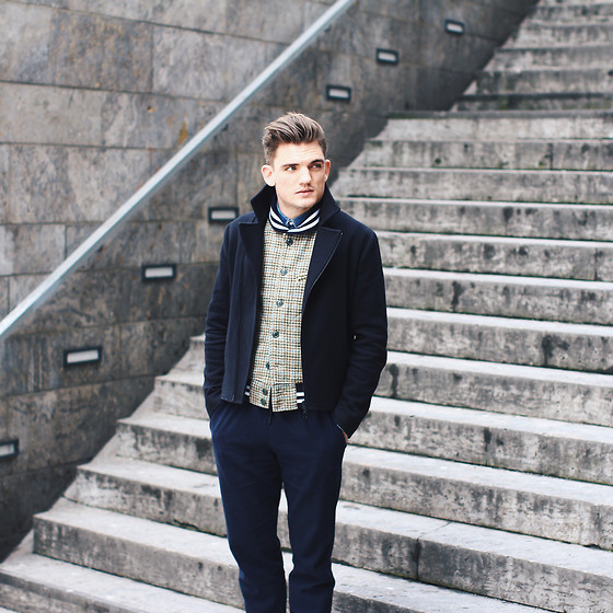 Florian Roser - Cos Jacket, Cos Pants, Mark Mcnairy Vest - Navy
