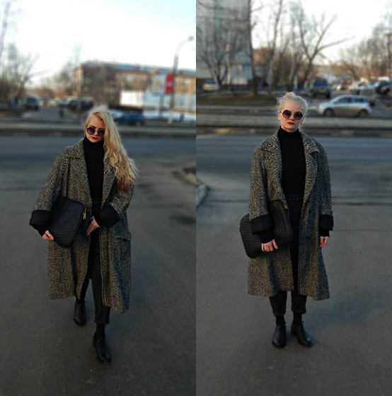 Emms - Stradivarius Sunglasses, Secondhand Coat, Pull & Bear Bag, Secondhand Pants, Bershka Shoes -  The Cure – Fascination Street