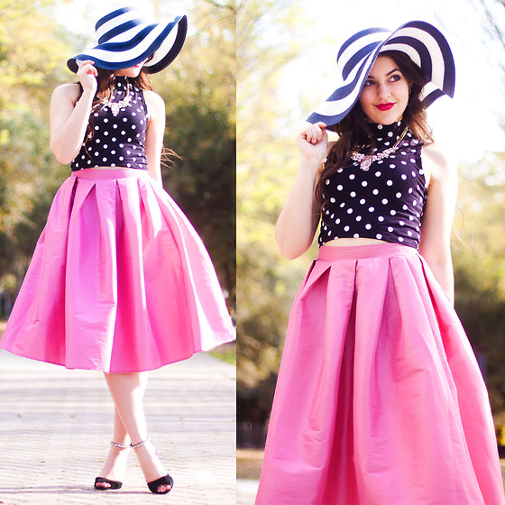 Carly Maddox - Make Me Chic Pink Midi Skirt - Print Party