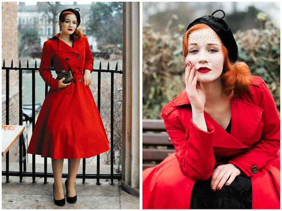 outlet sleek classic style Roberta D. - Collectif London Coat, Beyond Retro 1950's Hat ...