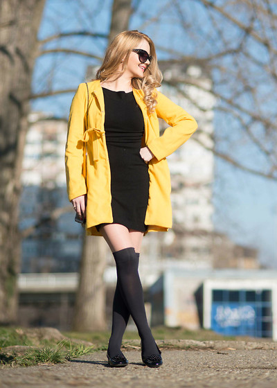 Tatjana Jovanovic - Sheinside Coat, Zara Dress, Shoestar Shoes - Yellow coat