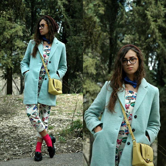 "Fransi - Asos Glasses, Bershka Coat, Liu Jo Bag, Zara Shoes - ""Pajama"" Day"