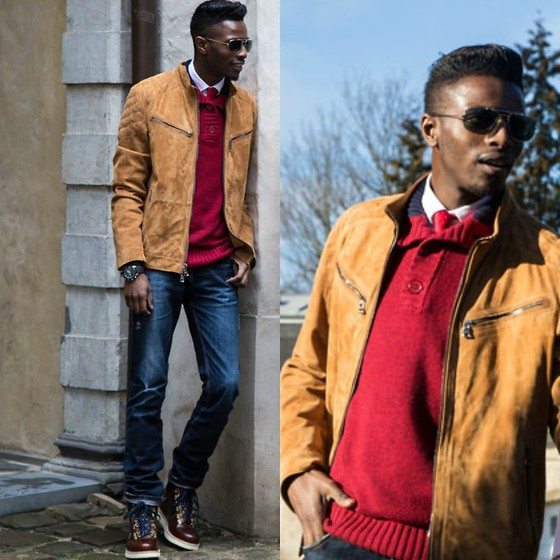 Jon The Gold - Hugo Boss Jacket, Charles Wilson Jumper, Zara Jonathan Zegbe, Timberland Boots, Oris Watch - BOSS JACKET