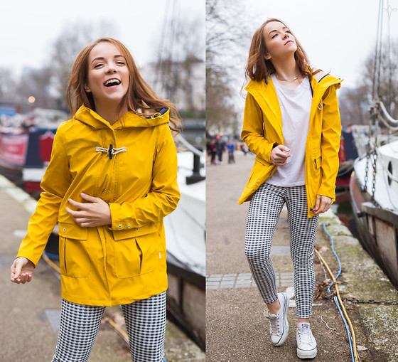 Silver Girl - Miss Selfridge Gingham Trousers, Urban Outfitters Raincoat W/ Hood, Silver Girls - Portable