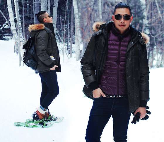 ALLEN M - Oufit Details And More Photos On My Blog: - SNOW SHOEING // IG: @iamALLENation