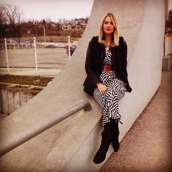 Ena Hadziibrisevic - Jacket, Boots, Dress - Spring is coming... <3