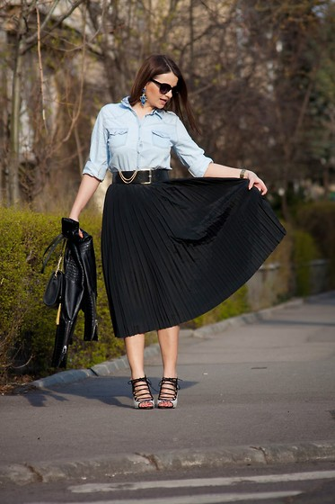 Kristina P. - Frank Walder Skirt, Zara Heels - Black is such a happy color