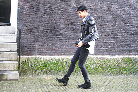 John Setrodipo - H&M Leather Jacket, Asos Oversized Shirt, Primark Skinny Jeans - HOW TO FIND THE PERF LEATHER JACKET