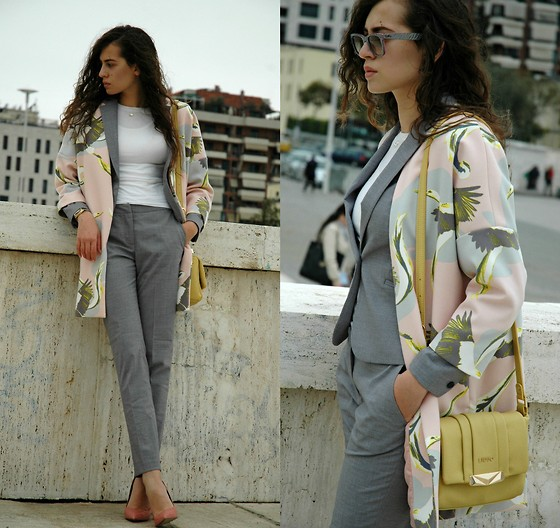 Fransi - Ray Ban Sunglasses, H&M Pants, H&M Jacket, Liu Jo Bag, Asos Shoes, H&M Cardigan - Pastel