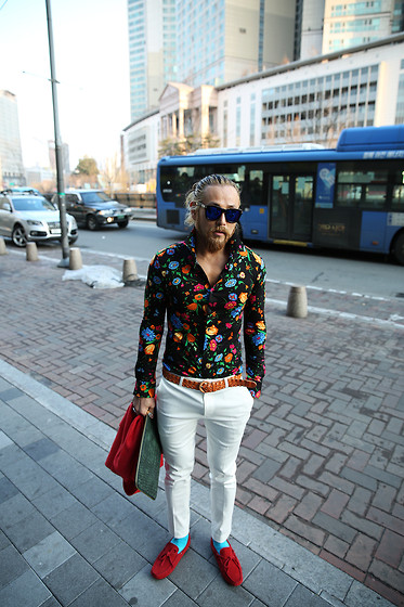 INWON LEE - Byther Shirts, Givenchy Pants - Boost your style with floral shirts