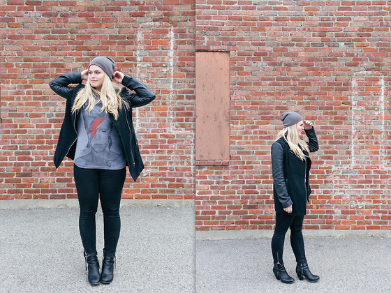 Bowie Jacket From Forever 21 | Jeans From Charlotte Russe