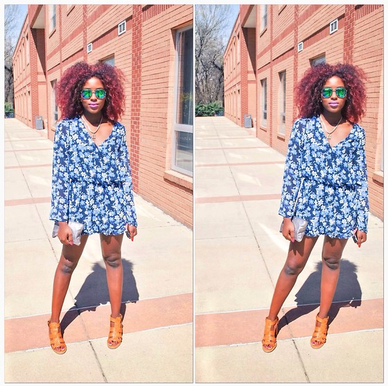 Oby Grace - Cotton On Romper, Forever 21 Glasses - Fun in my Rompers