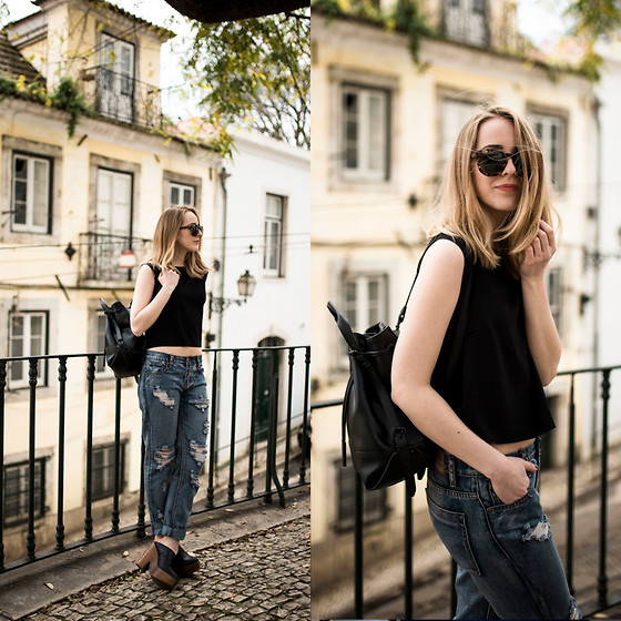 TIPHAINE MARIE - Top, Jeans, Mules, Bag, Sunglasses - Feels like summer.
