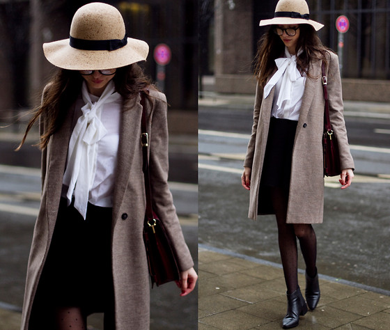 Bea G - Coat, Blouse, Skirt, Hat, Shoes, Bag - French Flair