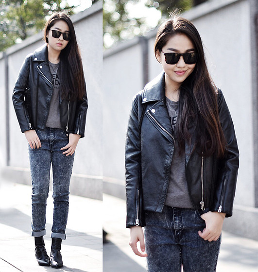 Meijia S - Cheap Monday Leather Jacket, Cheap Monday Jeans, Cheap Monday Tee, Cheap Monday Sunglasses - Being tough