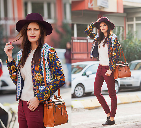Viktoriya Sener - Asos Fedora Hat, Black Five Jacket, Chic Wish Sweater, Black Five Bag, Adl Jeans, Hotic Brofus - MEXICAN