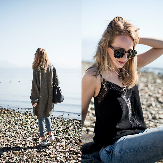 TIPHAINE MARIE - Cardigan, Top, Sunnies, Sneakers - Stop existing and start living!