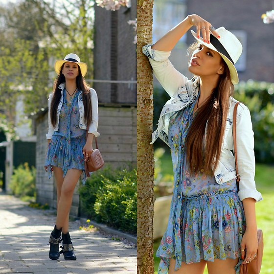 Tamara Chloe - Zara Dress, Zara Denim Jacket, Gucci Bag - Spring Blooms