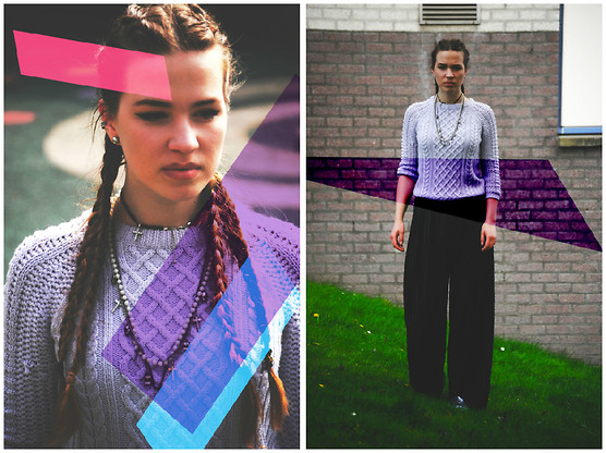 Braidsandeyeliner - Zara Sweater, Monki Pants, Gina Tricot Necklace, Boohoo Shoes - Colourful Freedom