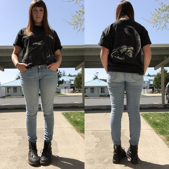 Haalen Agee - Thrift Star Wars Tshirt, Dr. Martens Dr - May the Fourth be With You!