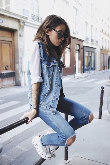 Alex Closet - Levis Jacket, Asos Jeans - Jeans on Jeans