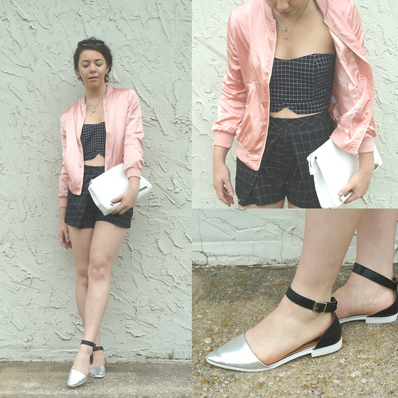 Hope Bidinger - Missguided Bag, Missguided Jacket, Missguided Bralet, Missguided Shoes, Missguided Shoes - Salmon