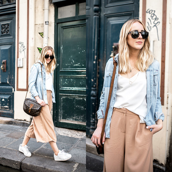TIPHAINE MARIE - Pants, Top, Shirt, Sunglasses - Le Marais.