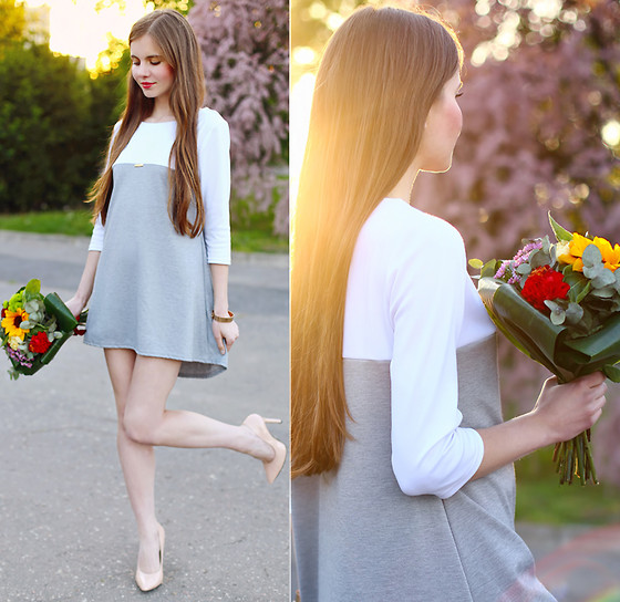 Ariadna Majewska - Dress - White & Grey