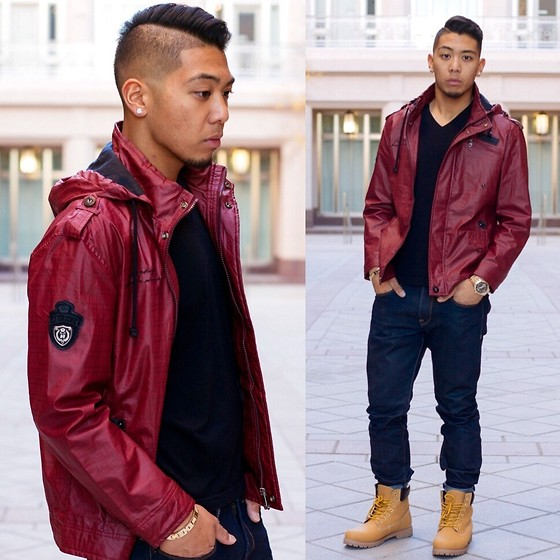 Gary Agunos - Timberland Tims, Express Rocco Jeans, Fossil Gold Watch, H&M V Neck - DT LV