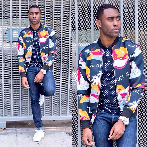 Willie Sparks - H&M Polo, Zara Bomber Jacket, J Brand Jeans, H&M Shoes - Bomber Boy