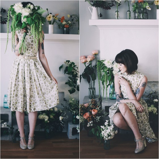 Kiana Mc - Vintage Dress - All of the Flowers