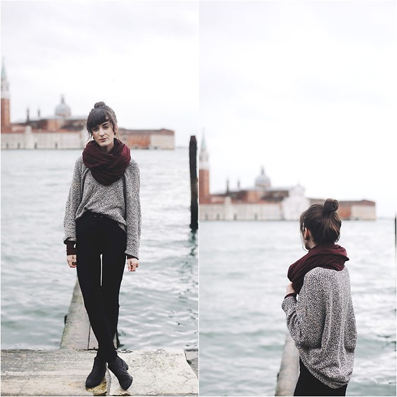 Kiana Mc - American Apparel Circle Scarf, American Apparel Sweater, American Apparel Riding Pants - Venezia